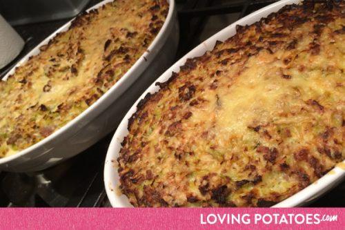 Prei-gehaktschotel uit de oven - een recept van LovingPotatoes.com