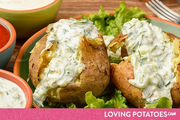 MijnAardappel.nl - Recept Gepofte aardappel met tuinkruiden