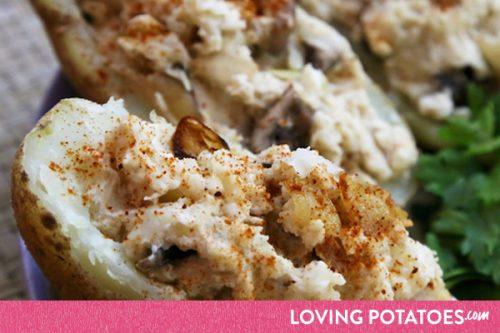 MijnAardappel.nl - Gevulde aardappel met champignons en knoflook