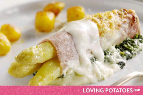 MijnAardappel.nl - Recept Ovenschotel met spinazie en asperges