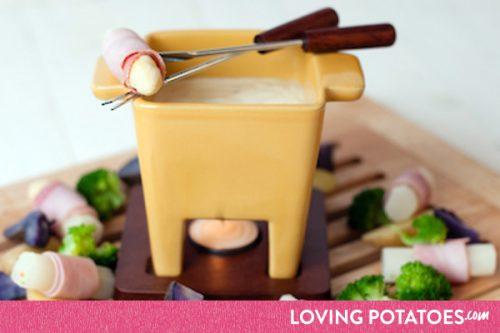 MijnAardappel.nl - Recept Kaasfondue met aardappelen en asperges
