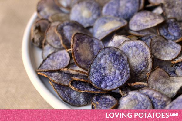 Recept: zelf paarse chips bakken van truffelaardappelen - een recept van LovingPotatoes.com