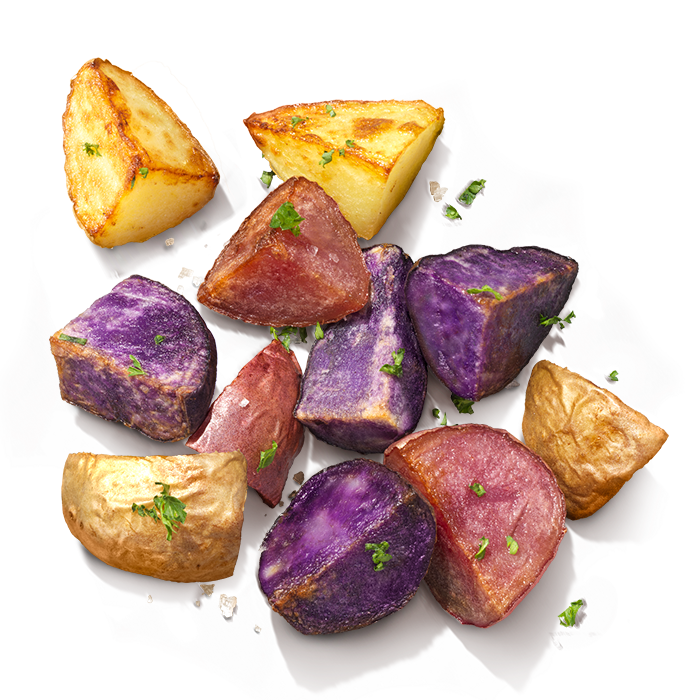 Colour Mix - Add some bright and wonderful coloured potatoes to your meal! - LovingPotatoes.com