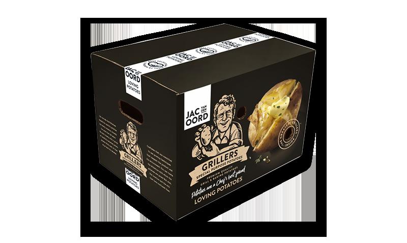 Jac van den Oord Grillers, aardappelen om te poffen of grillen in oven of barbecue