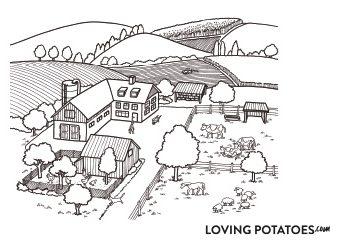 Kleurplaat LovingPotatoes.com #7